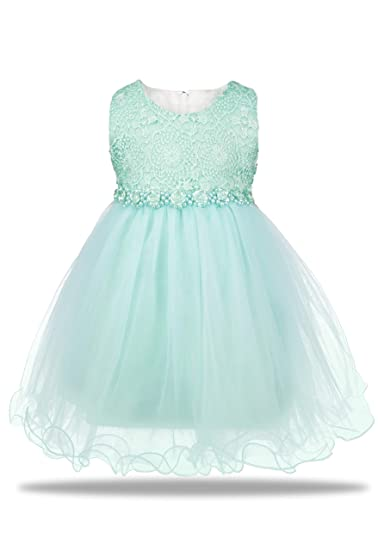 9e3917a48c218 AODAYA Baby Girls Dress Sleeveless Newborn Toddler Flower Girl Dresses for  Kids Children Birthday Wedding Party