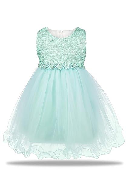 c875a2e1e04 Amazon.com  Aodaya Baby Girls Dress Sleeveless Newborn Toddler Flower Girl  Dresses for Birthday Christening Baptism Wedding Party  Clothing