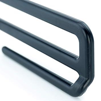 Hangerworld 6 Perchas 35.5cm Pl/ástico Negro con Barra para Pantalones Ahorra Espacio Gancho Metal