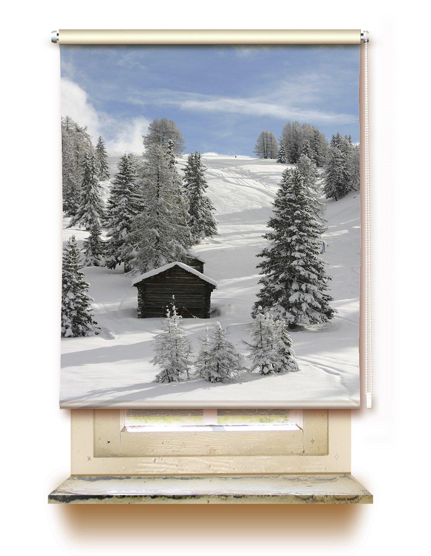 Gardinen-for-life Rollo Winterlandschaft - Klemmfix Rollo Sichtschutz mit Tollem Druck-Motiv, Versch. Größen (100 cm x 125 cm)