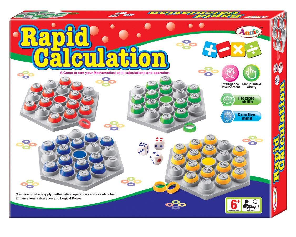 Buy Annie Rapid Calculation, Multi Color Online at Low Prices in ...