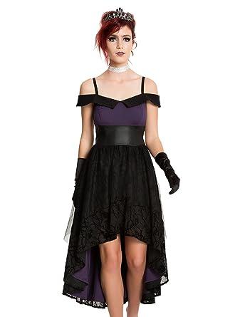 Disney Villains Black & Purple Hi-Lo Gown Vine Flocking Vixen Formal Dress (Small
