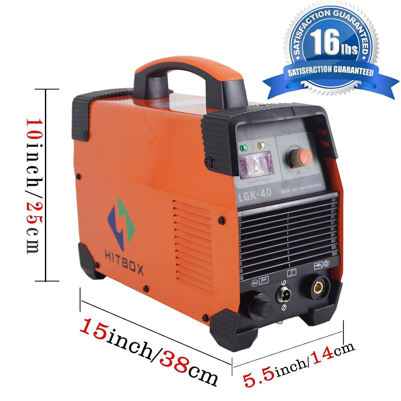Plasma Schneider 40 A 220 V DC lgk40 Máquina cortadora de plasma cut40 con PT31 schneidbrenner: Amazon.es: Bricolaje y herramientas