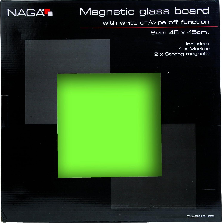 Orange Magnetische Glastafel NAGA 45x45cm