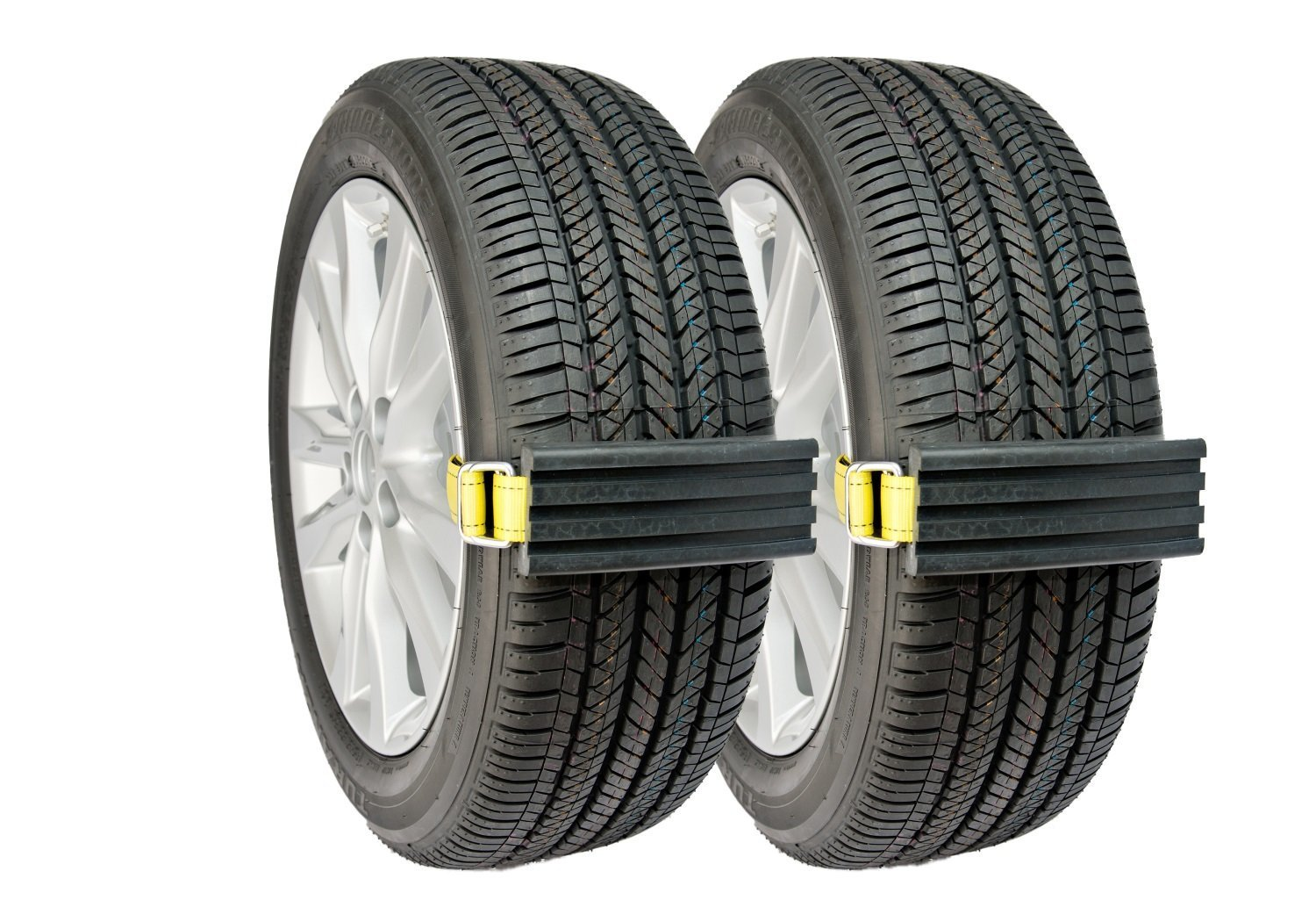 Trac-Grabber – Snow, Mud and Sand Tire Traction Device for Cars and Small SUVs – Set of 2 – A Chain / Snow Tire Alternative That Helps You Get Unstuck – Easy Install Blocks Strap To Your Vehicle Tires