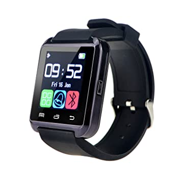 Yuntab móvil U8 Reloje SmartWatch Bluetooth 3.0 Muñequera de silicona para Apple iOS iphone teléfono inteligente 4 / 4S / 5 / 5C / 5S / 6 Android ...