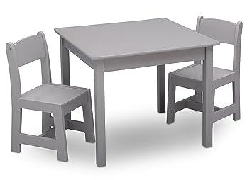 Delta Children MySize Table u0026 2 Chairs Set ...  sc 1 st  Amazon.com & Amazon.com : Delta Children MySize Table u0026 2 Chairs Set Grey : Baby