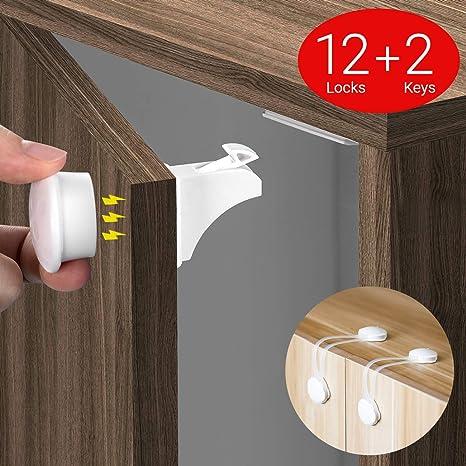 COSYLAND Cerraduras Invisible Magnéticas de Seguridad para Niños ...