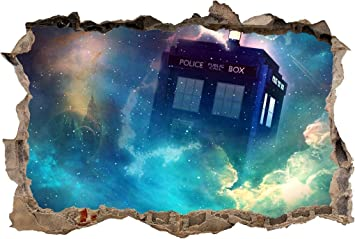 Who Smashed Wall Decal Removable Graphic Wall Sticker Art Mural H292 Tardis Dr