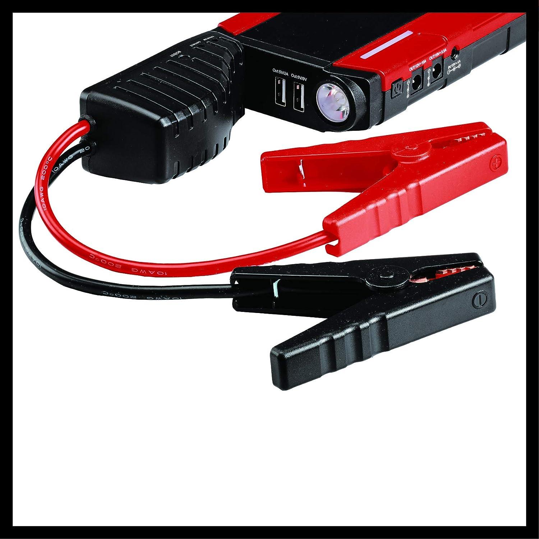 Einhell 1091521 Station d/énergie-Booster JS 12 12 V, Pic : 400 A, Temps de Charge : 5h, Livr/é en Sacoche daide au d/émarrage, c/âble Micro//Mini USB