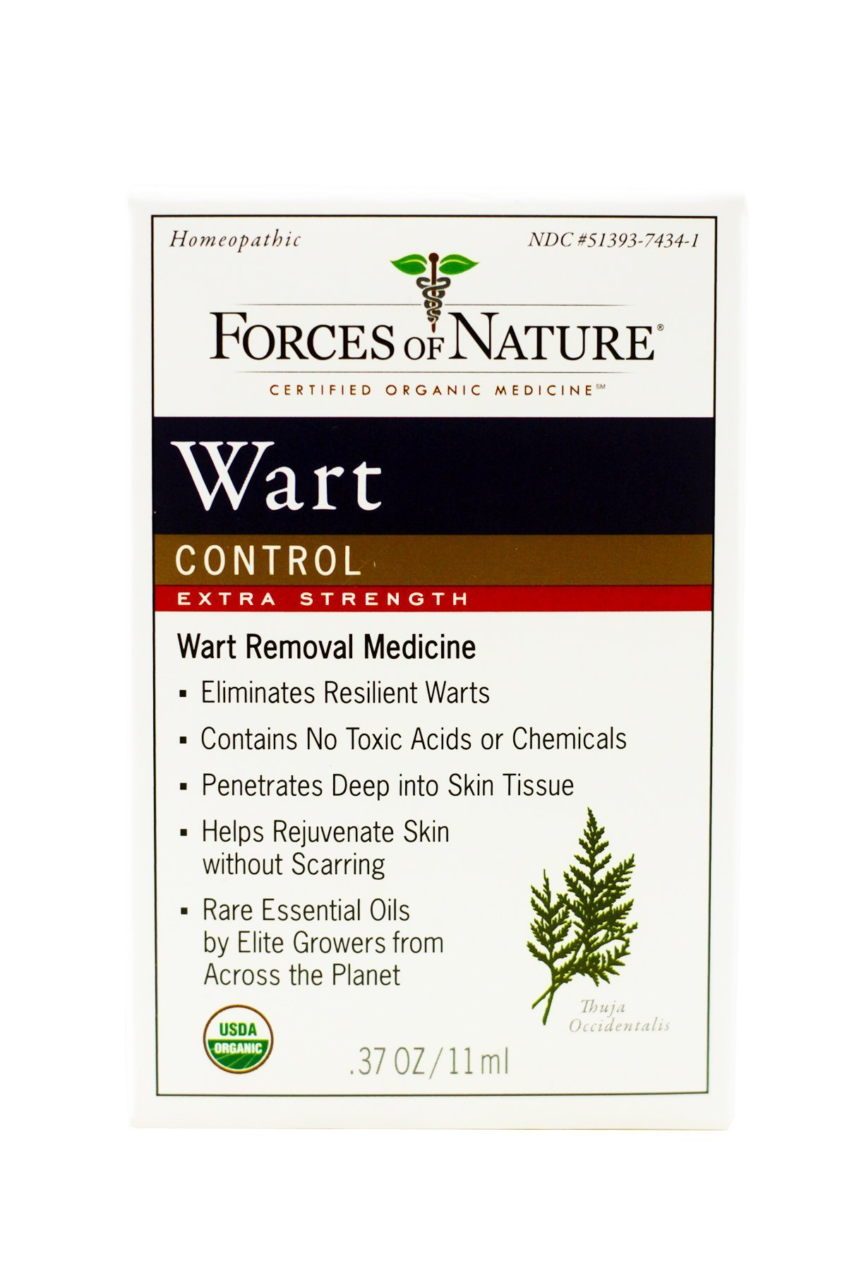 Forces of Nature | Wart Control Extra Strength l | Certified Organic | FDA-registered | Pharmaceutical Strength | 11ml (Pack of 1)