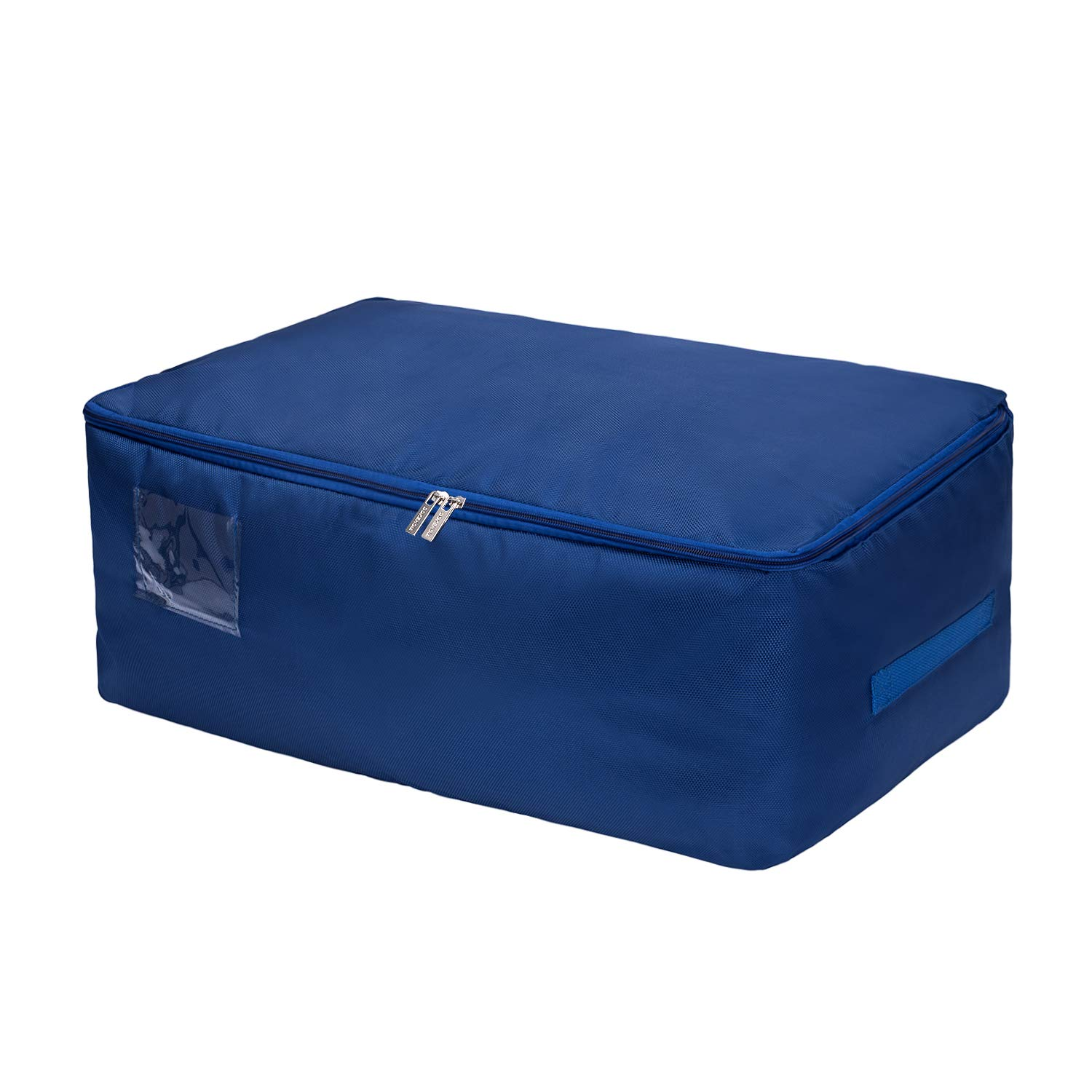 Dark Blue//L, Set of 3 Moisture proof DOKEHOM DKA1014DBLG3 3-Pieces Large Under Bed Storage Bag Thick Ultra Size Fabric Clothes Bag