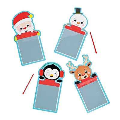 Fun Express - Mini Magic Pad Characters for Christmas - Stationery - Notepads - Magic Screens - Christmas - 12 Pieces: Toys & Games