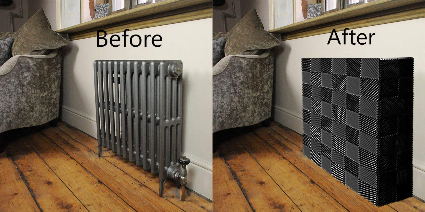 Ready Covers Radiator Cover Heating Cabinet For Your Home And Office Fits Most Small and Medium Size Radiators: CHARCOAL 30 Tiles! 30, Charcoal