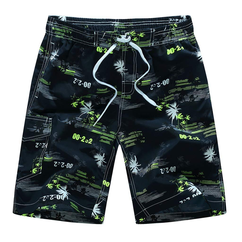 ¡Gran promoción!★Rovinci★Bañadores de Natación Hombre Pantalones Corto de Playa de Secado Rápido Pantalones Cortos Boxers Deportivos de Natación Running Surf Ropa Trajes de Baño Hombre
