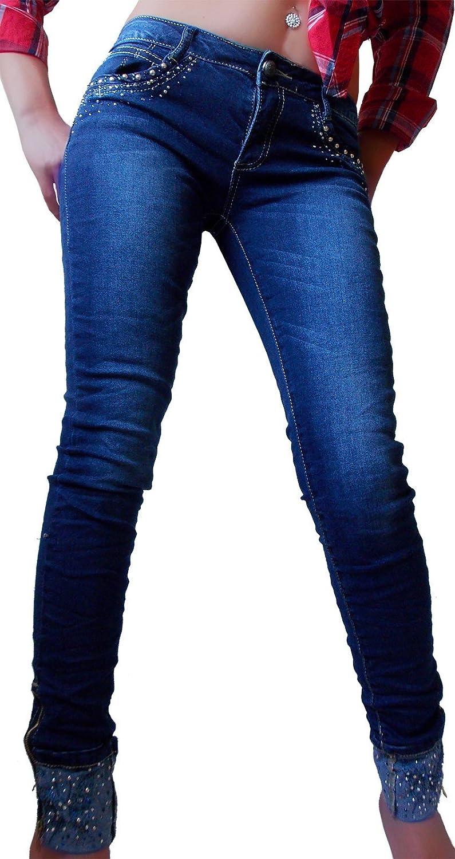 if she Pantalones Vaqueros Ajustados para Mujer en Pierna ...