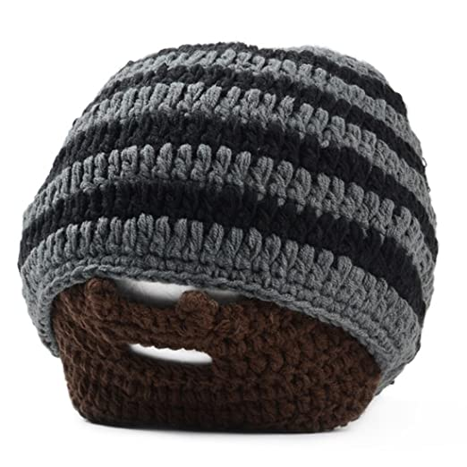 ef12c1290b8 Image Unavailable. Image not available for. Color  SODIAL(R) Handmade  Knitted Crochet Beard Hat Bicycle Mask Ski Cap roman knight octopus