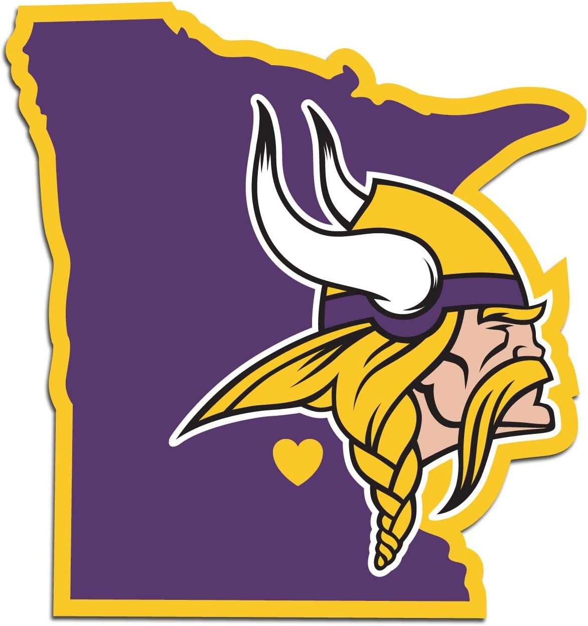 NFL Siskiyou Sports Fan Shop Minnesota Vikings Home State Decal One Size Team Color