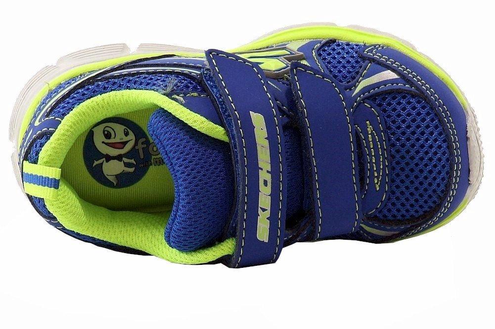 Skechers Kids 95083N Speedees - Burn Outs Sneaker,Blue/Lime,6 M US Toddler by Skechers (Image #5)