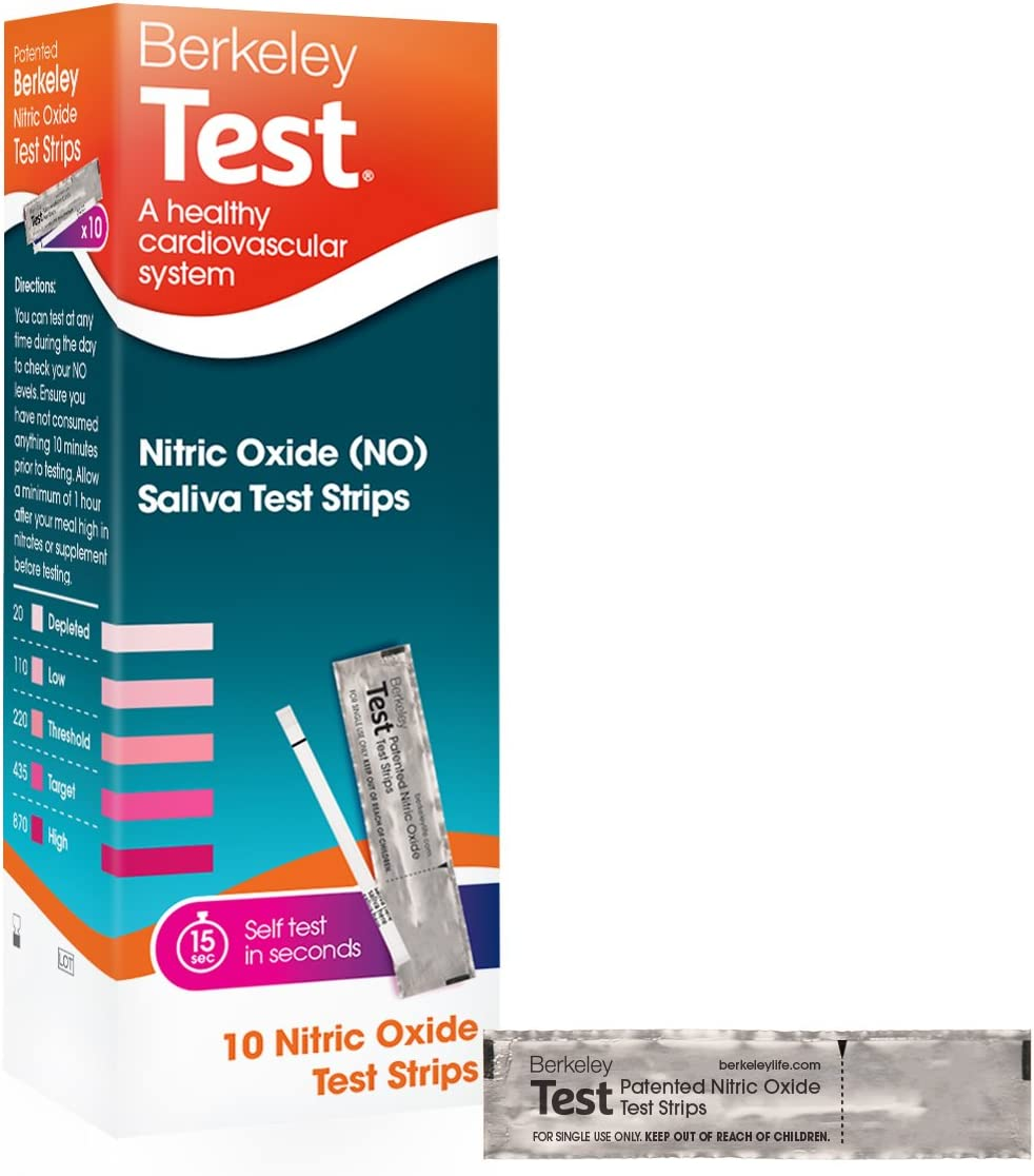 Berkeley Life Nitric Oxide Test Strip Used Worldwide by Olympians and Elite Athletes Take Control of your Heart Health Measure, Manage, and Optimize Blood Flow and Oxygen Delivery in Your Body - 10