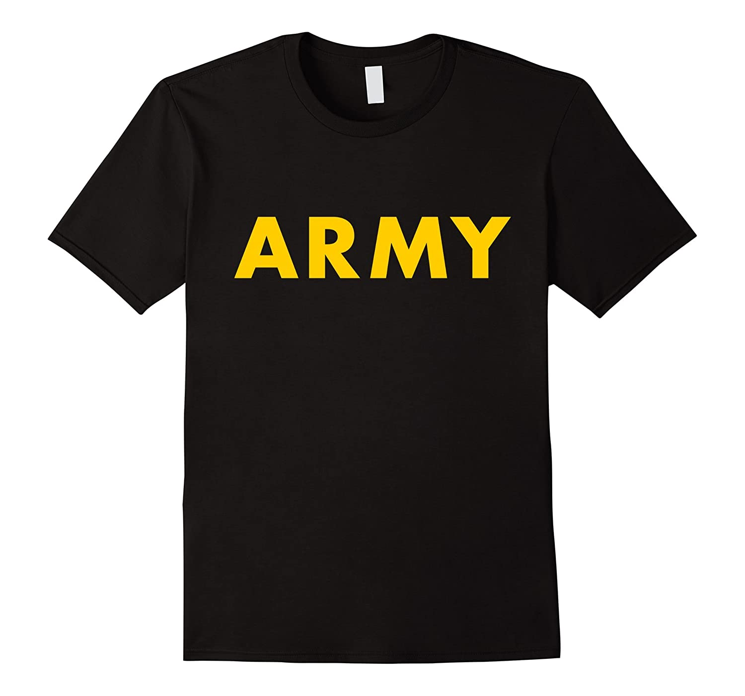 APFU Army Physical Fitness Uniform Style - Black ARMY Shirt-FL