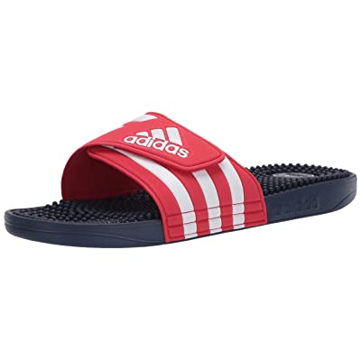 adidas Adissage Slide Sandal, Red, 10 M US | Sport Sandals & Slides