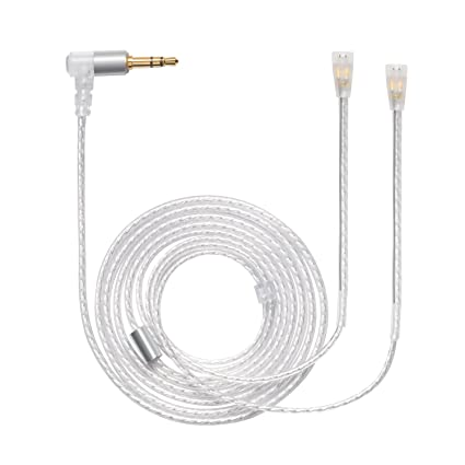 MOKOSE Replacement Upgrade Aux balanced Cable Silver Plated Audio Wire For Sennheiser IE8 IE80 IE8i Earphone