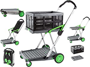 Salesmaker Carts ClaxGreen Green Clax Mobile Folding Cart-Grey