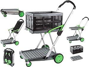 Salesmaker Carts ClaxGreen Green Clax Mobile Folding Cart-Grey