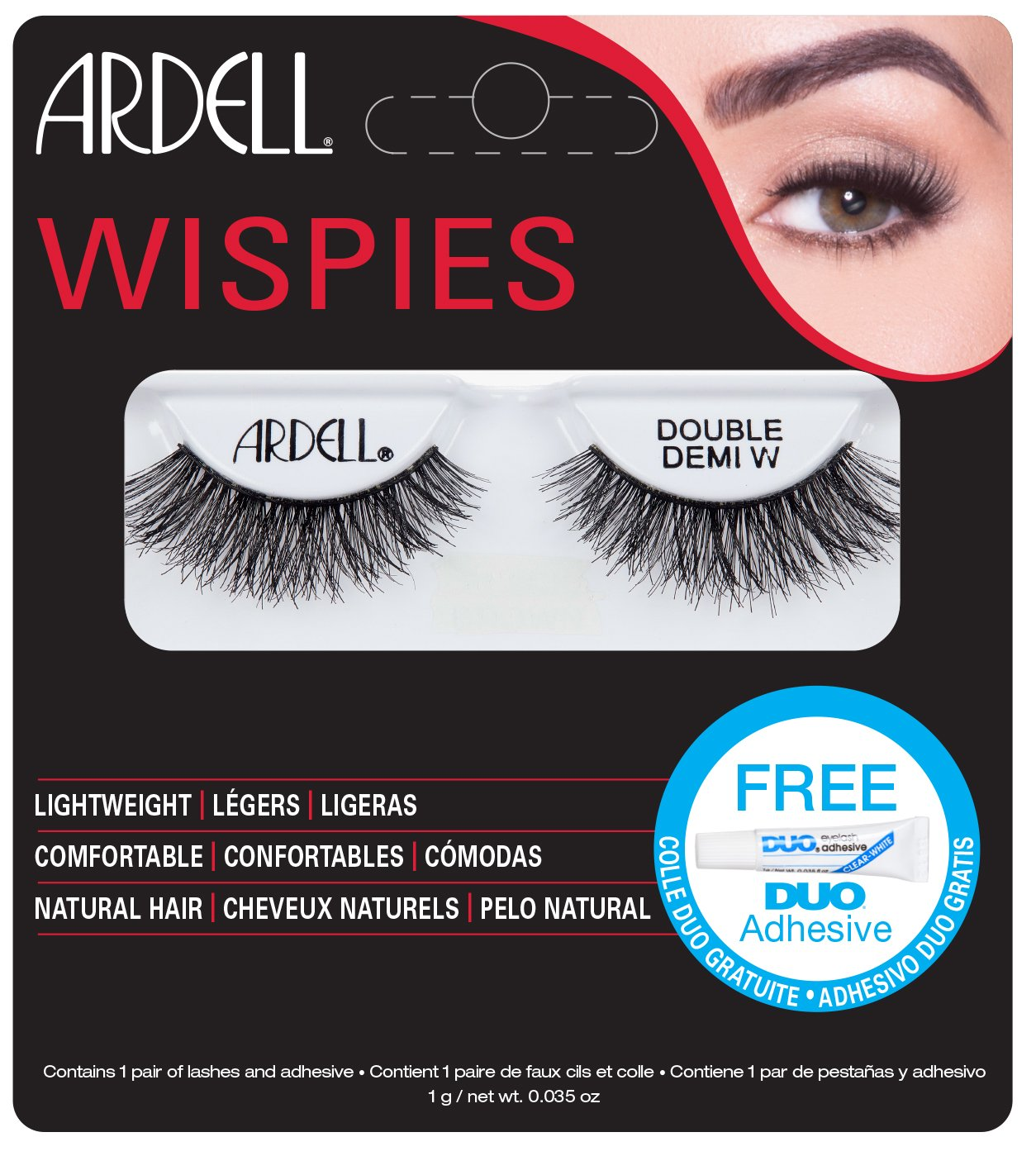 Ardell Lashes Double Demi Wispies with Free DUO Glue AII65687B