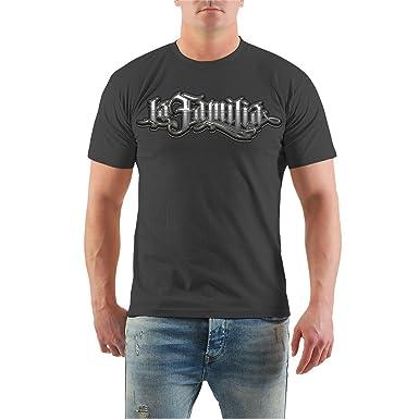 Männer und Herren T-Shirt La Familia Judge Me (mit Rückendruck) Größe S