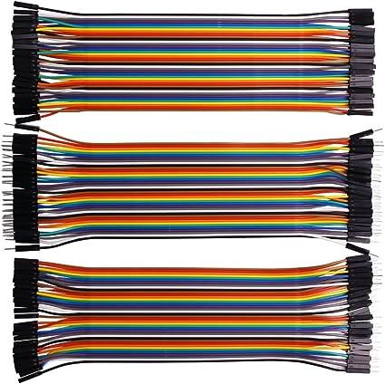 40pin Female to Female for Arduino//DIY//Raspberry Pi 2 3 REXQualis 120pcs Breadboard Jumper Wires 20cm Length Dupont Wire Kit 40pin Male to Female 40pin Male to Male