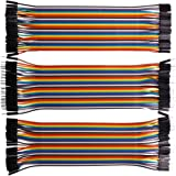 RGBZONE 120pcs Multicolored Dupont Wire 40pin Male to Female, 40pin Male to Male, 40pin Female to Female Breadboard Jumper Wires Ribbon Cables Kit