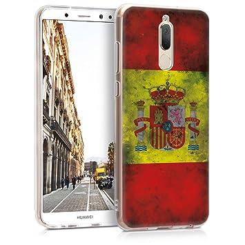kwmobile Funda para Huawei Mate 10 Lite - Carcasa de TPU para móvil y diseño Bandera española en Amarillo/Blanco/Rojo