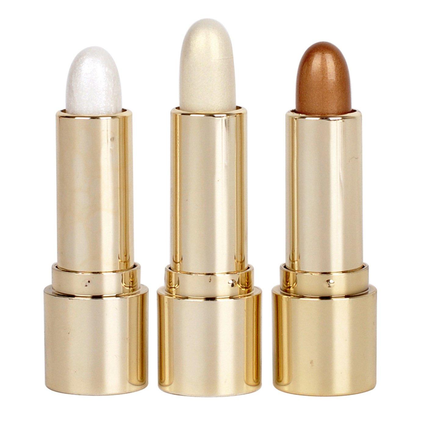 3 Colors Illuminator Makeup Sticks Highlight Repair Rods Face Eye Whitening Shimmer Stick
