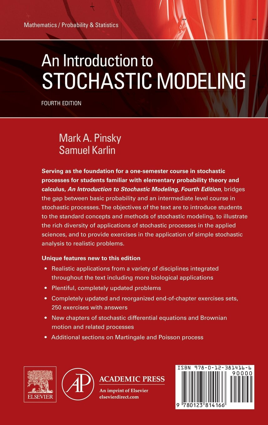 An Introduction to Stochastic Modeling: Amazon.co.uk: Mark Pinsky, Samuel  Karlin: 9780233814162: Books