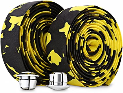Cycling Road Bicycle Bike Sports Cork Handlebar Wrap Tapes with Two Bar Plugs