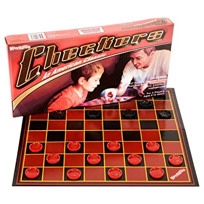 Kangaroo Checkers Board Game - Foldable Paper Checkers Board - Portable Educational Travel Checkers: Toys & Games