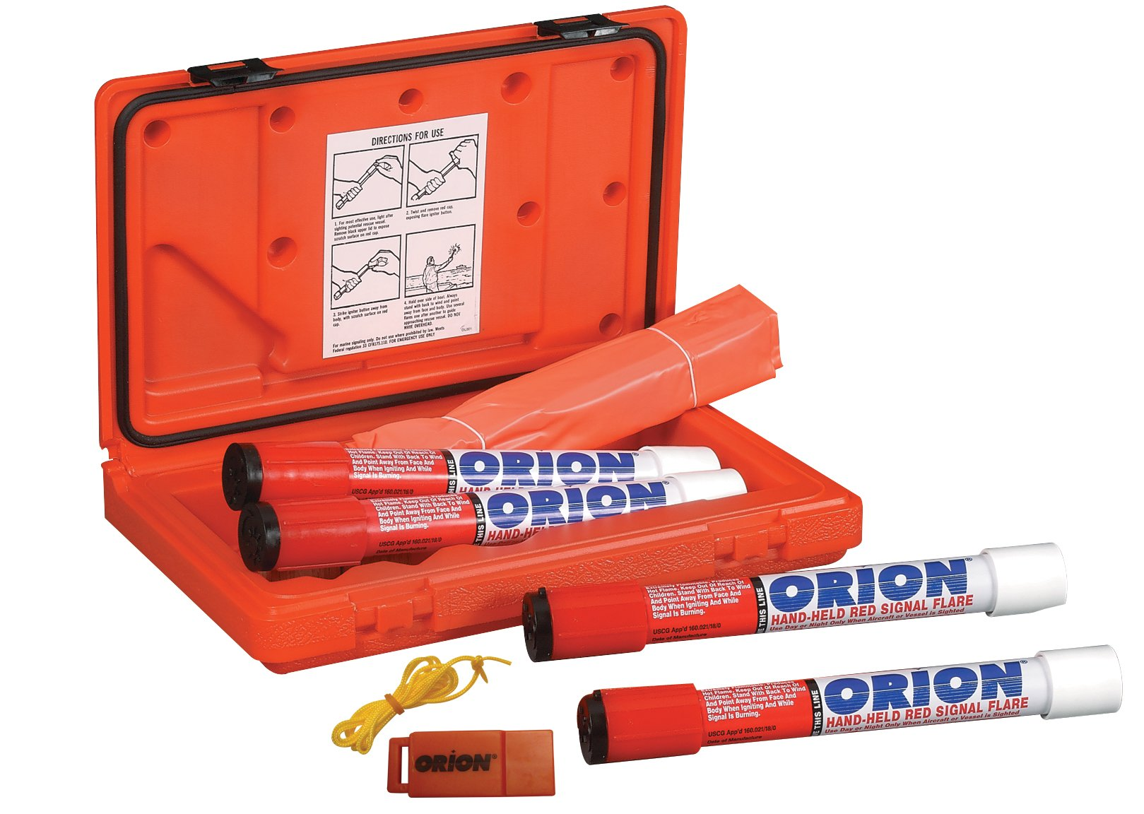 Orion Safety Products Locater Plus - 4 Marine Signal Kit - LOCAT+ Flare KIT SNGL PK - Single Kit (534SNGL) by Orion Safety
