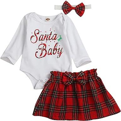 Conjunto de Falda de Cuadros Escoceses navideños para niñas ...