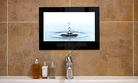Haocrown Smart TV LED para baño IP66 Impermeable Sistema Android Televisión con Pantalla táctil y Wi-Fi Incorporado (19 Pulgadas, Negro): Amazon.es: Electrónica