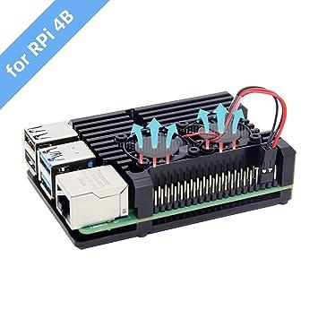 Amazon.com: Geekworm - Carcasa para Raspberry Pi 4, modelo ...