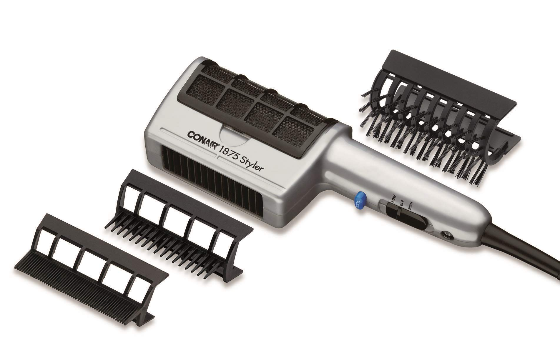 Conair 1875 Watt 3-in-1 Styling Hair Dryer; 3 Attachments to Detangle / Straighten / Volumize by Conair