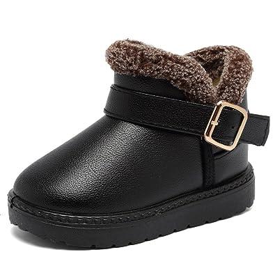 6477e98e4a343 Stillshine Filles Bottes de Neige pour Enfant Chaud Hiver Chaussures Garçon  Bébé Fourrure Doublé Bottes (