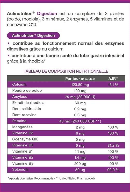 ACTInutrition - Digestión - Rhodiola / Boldo: Amazon.es ...