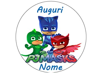 PJ Masks. Súper pijamas. Obleas de tarta personalizable - Kit No. 2 cdc