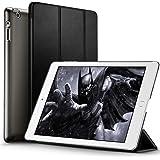 iPad 2 / 3/ 4 Hülle, ESR® Yippee Series Auto Aufwachen/Schlaf Funktion Wickelfalz PU Ledertasche mit Durchschaubar Rückseite Schutzhülle für iPad 2 3 4 (Schwarz)