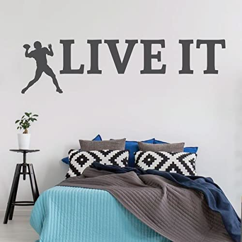 Amazon.com: Football Wall Decal - Live It - Vinyl Art ...