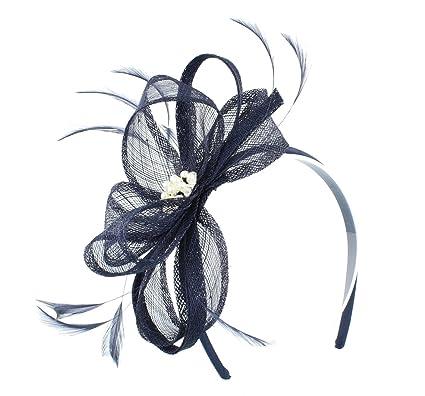 Lisa Jewel Sinamay Feather Headband Fascinator From Elegance