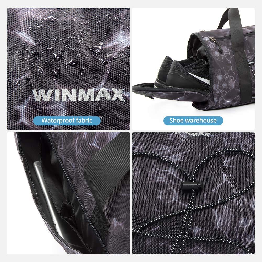 Sac de Fitness pour Femmes Hommes Gym Bag Sac de Voyage Sport Bandouli/ère Cabas de Fitness winmax Sac de Sport Imperm/éable Grande Capacit/é avec Compartiment Chaussures